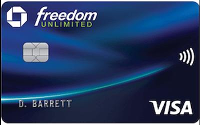 Freedom Unlimited Tarjeta De Crédito Personal(Unlimited Freedom Chase personal credit card)